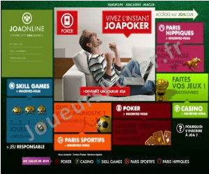 JoaOnline Poker Accueil