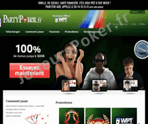Party Poker Accueil